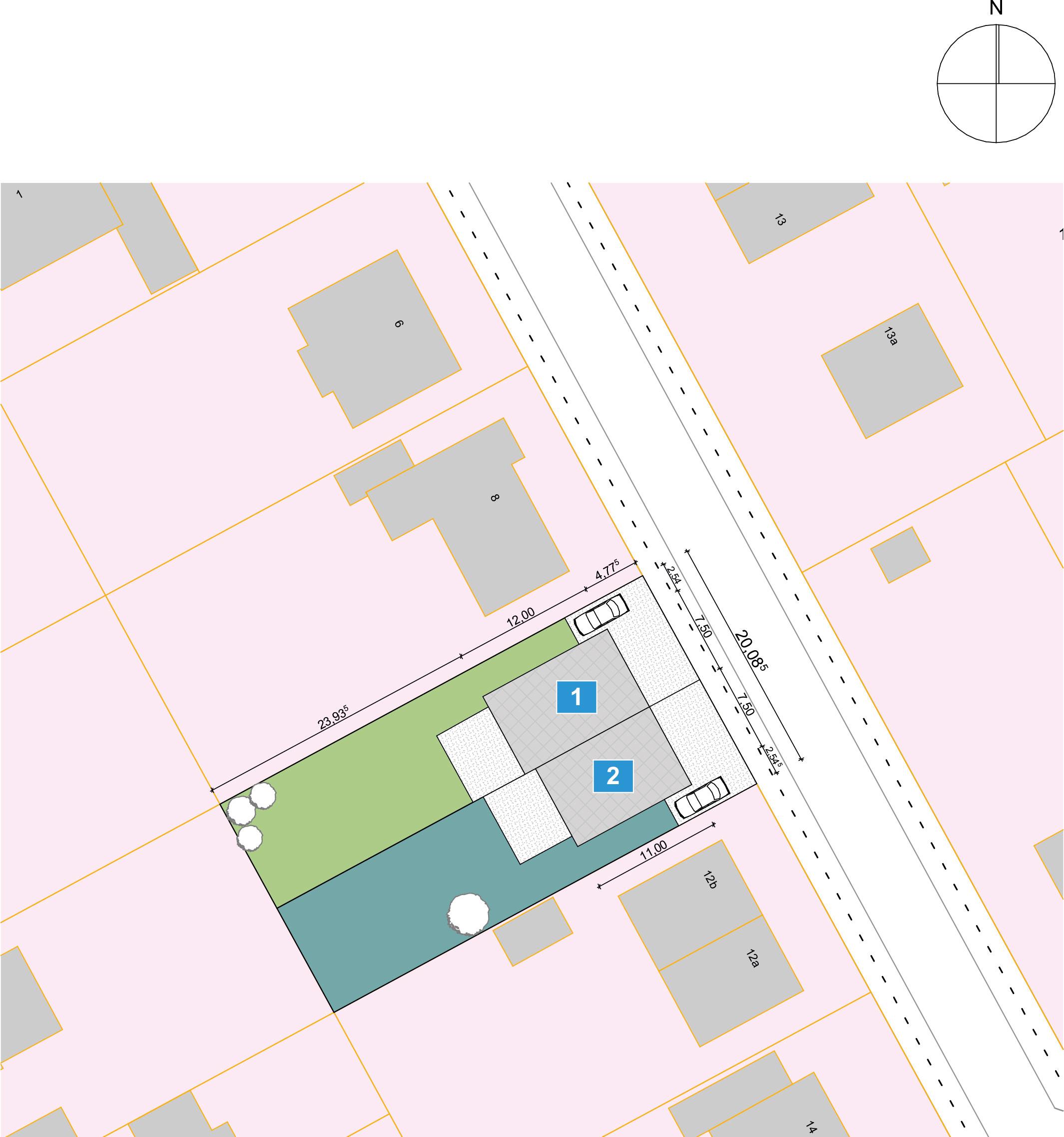 Hamburger Stadtvilla - fußläufig in 5 Min. zur U1 (DHH2) - Lageplan