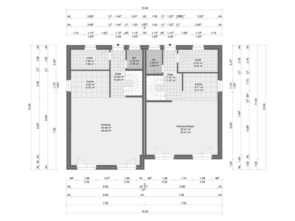 Hamburger Stadtvilla - fußläufig in 5 Min. zur U1 (DHH2) - Erdgeschoss