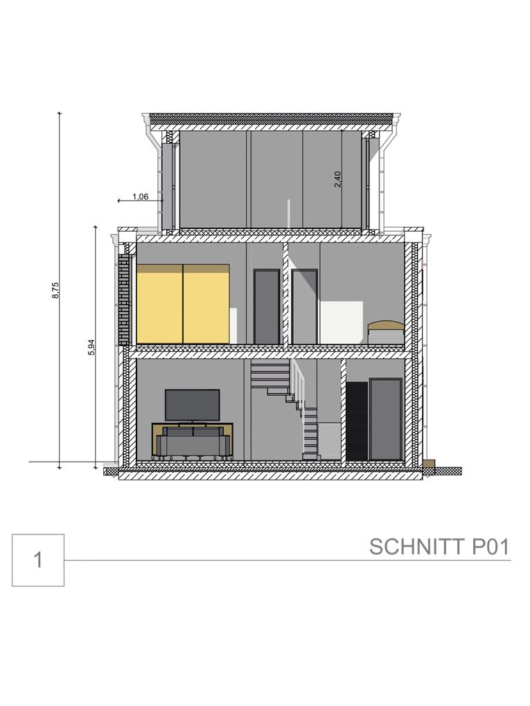 Doppelhaushälfte in ruhiger Wohnstraße in Hamburg-Billstedt (DHH 2) - Schnitt