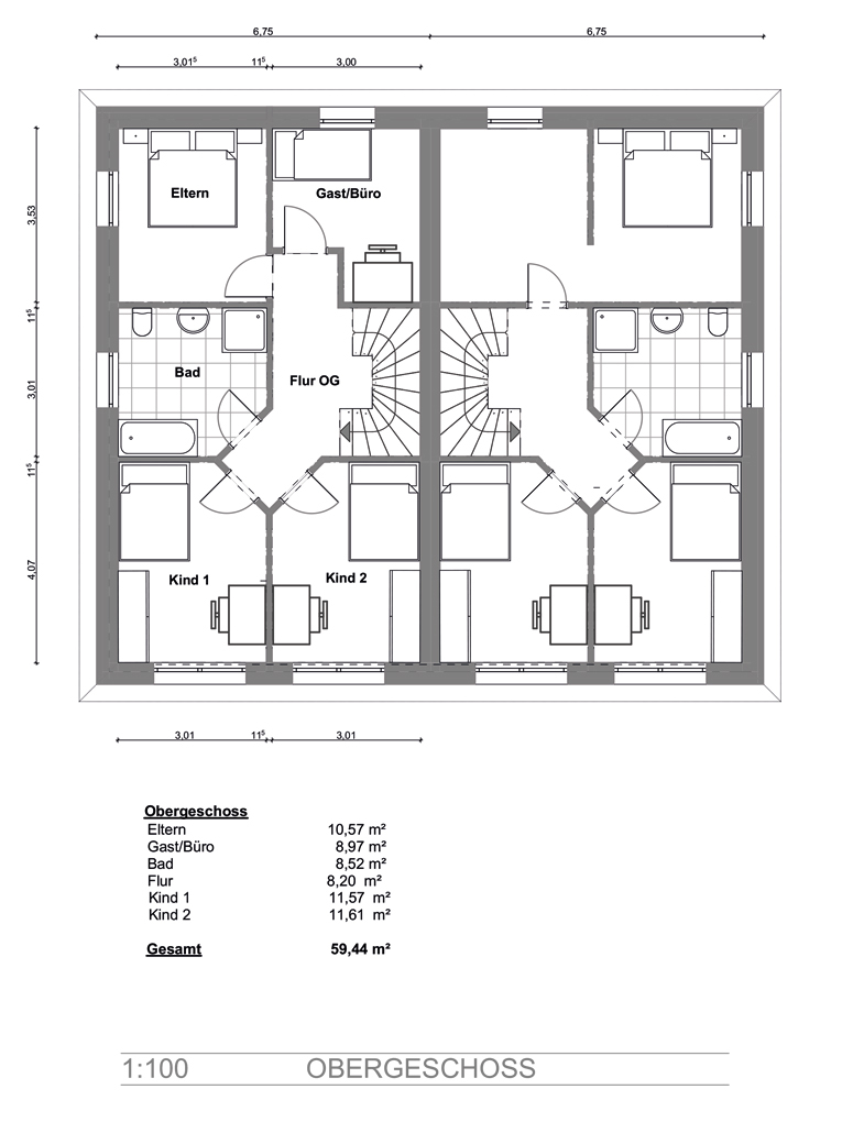 Doppelhaushälfte in Billwerder, am Ende einer Sackgasse (DHH 1) - Dachgeschoss