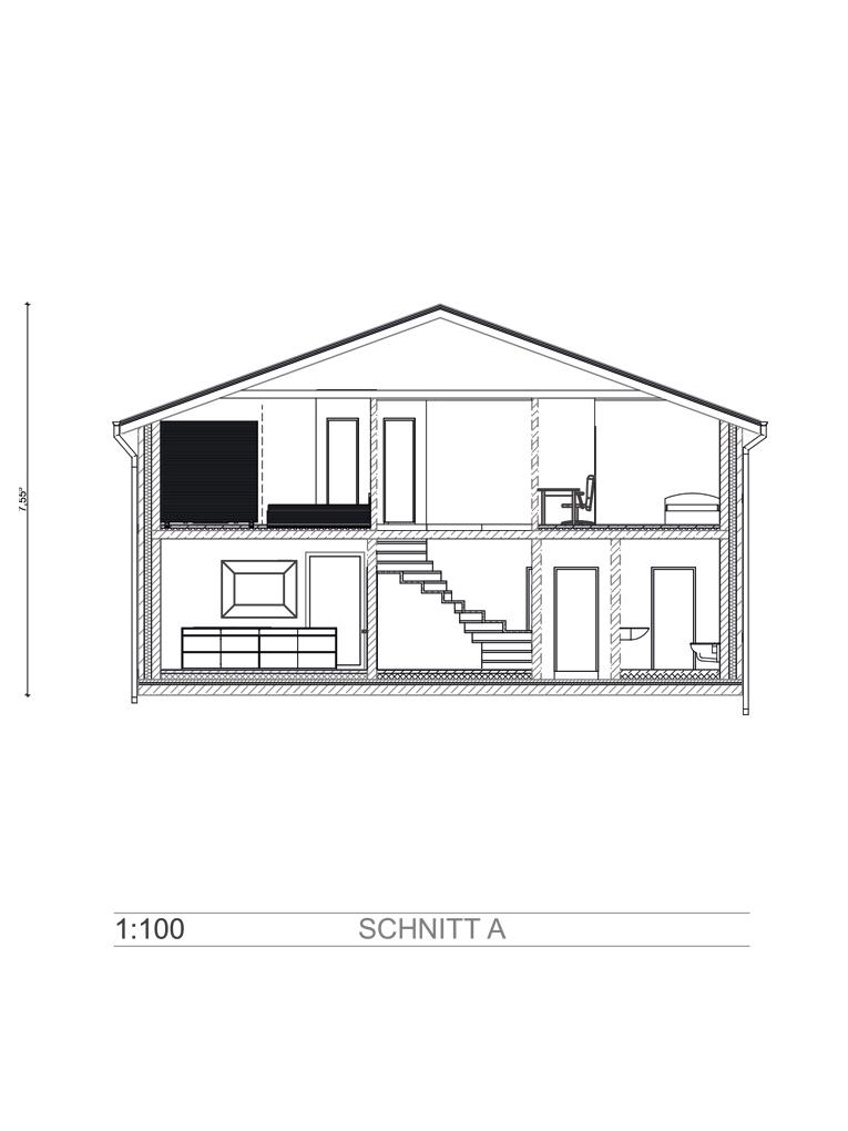 Doppelhaushälfte in Billwerder, am Ende einer Sackgasse (DHH 1) - Schnitt