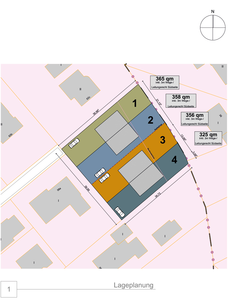 Doppelhaushälfte in Billwerder, am Ende einer Sackgasse (DHH 1) - Lageplan